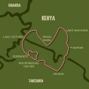 Kenya & Tanzania map