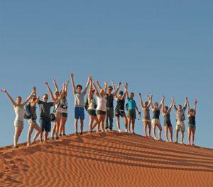 Group dune climb